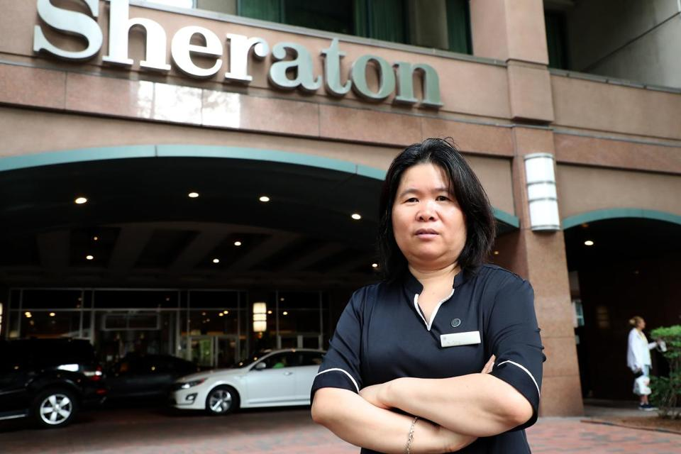Ye Qing Wei has been cleaning rooms at the Sheraton for 13 years and still has no set schedule, a more common occurrence for longtime workers following the emergence of these programs, according to the union.